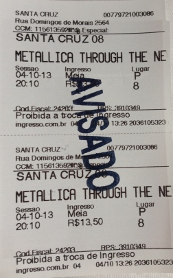 Ingresso_filme_Through The Never_MetallicA