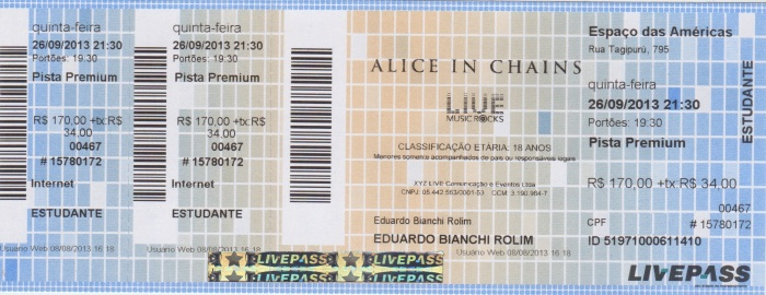Ingresso_Alice In Chains_SP2013