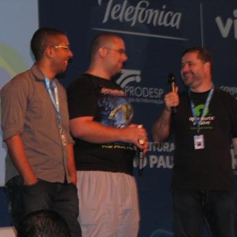 Igor, Eliel Vieira e o apresentador