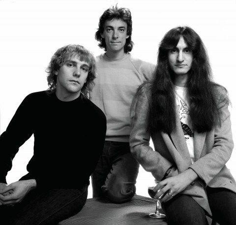 Rush em 1981: Alex Lifeson, Neil Peart e Geddy Lee