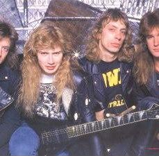 Lineup: Dave Mustaine, David Ellefson, Chris Poland e Gar Samuelson