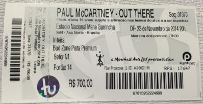 Ingresso_PaulMcCartney_Brasília2014