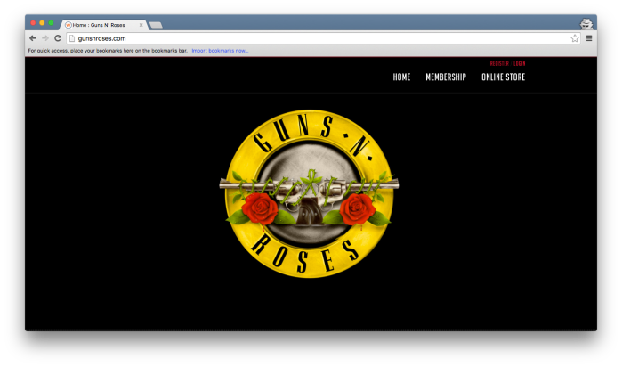 Guns N' Roses - site 25dez2015