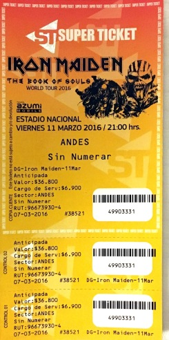 Iron Maiden e Anthrax em Santiago (Chile)