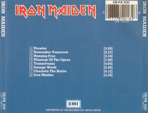 Iron maiden back cover