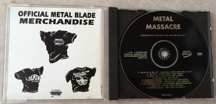 Metal Massacre americano em CD (1994) aberto