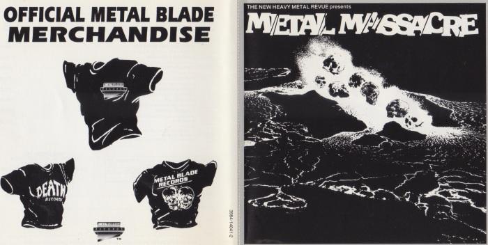 Metal Massacre americano em CD (1994) - capa e contra-capa em destaque
