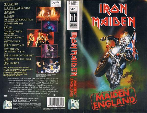 maiden england vhs